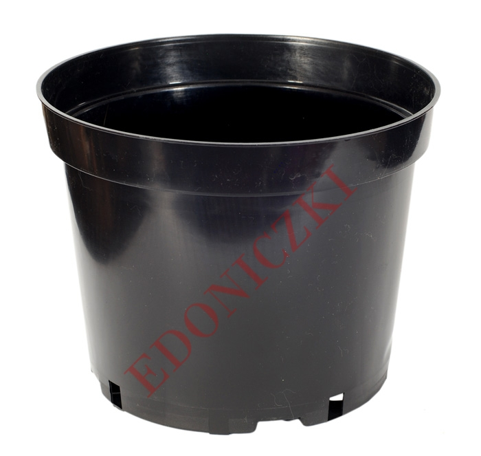 Doniczka Okrągła Produkcyjna 25cm 75l W Kolorze Czarnym